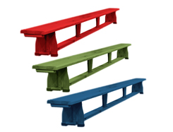 Coloured Gymnastic bench